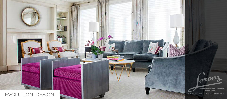 Upholstered Furniture Design Montreal Interior Designer